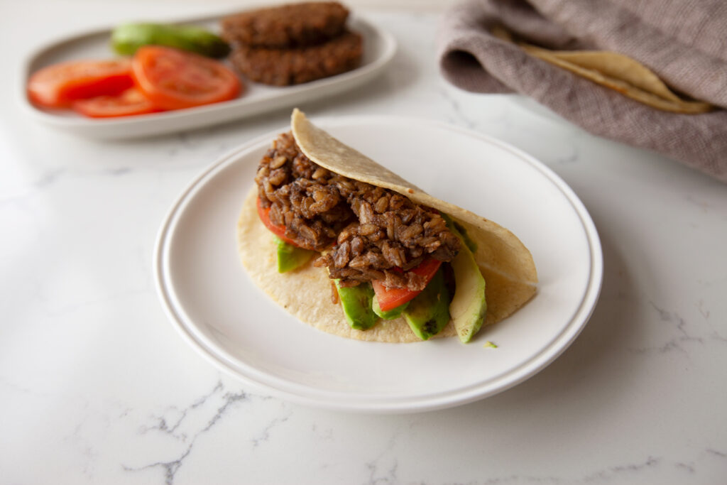 Oat Burger with Gluten-free Serving Option