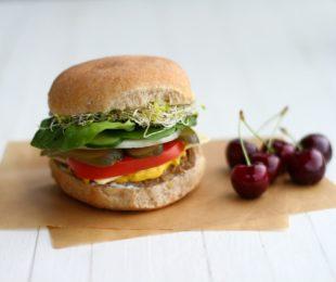 Vegan Oat Burger Recipe with Homemade Burger Buns