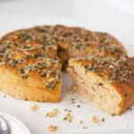 Sprouted Whole Wheat Focaccia Bread Recipe (Vegan)